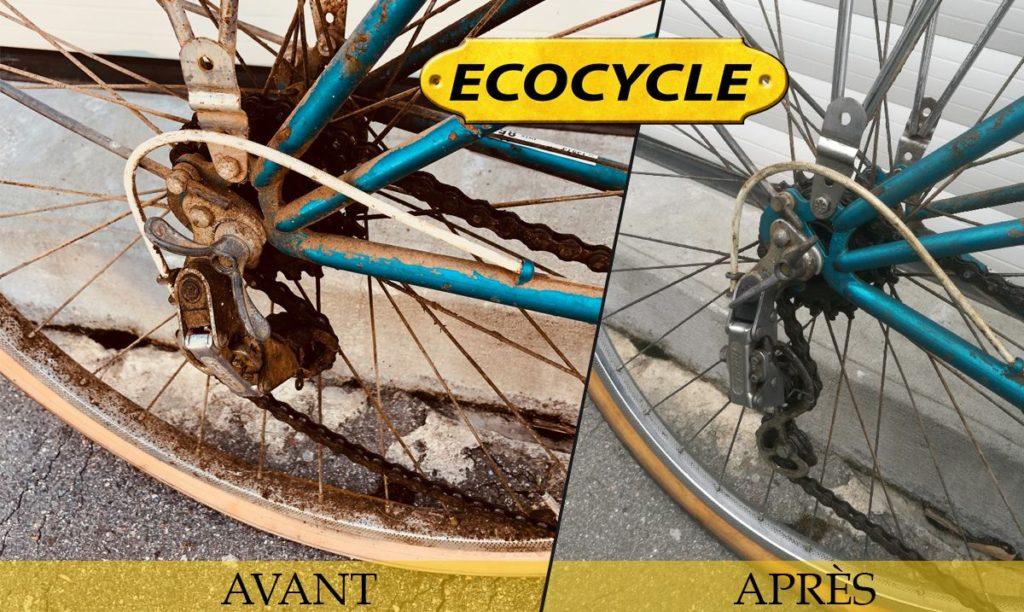 Rénovation de vélo avant / après